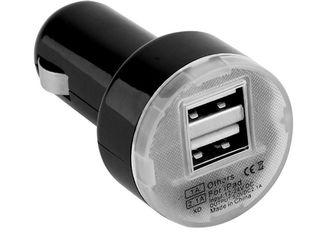 USB зарядка для телефонов от прикуривателя на 2 USB порта