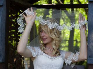 Фата цвета Айвори не венчанная