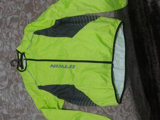 Jachetă B'TWIN impermiabila fluorescentă pentru ciclism.