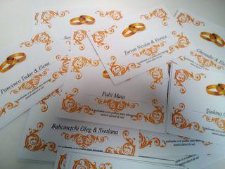 Plicuri pentru nunta cu personalizarea numelui invitatului - pret de la 6 lei.