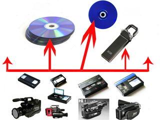 Оцифровка всех видеоформатов с переводом качества видео с SD в FHD на аппаратном уровне. Чеканы.