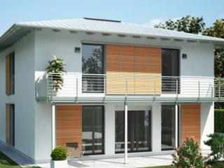 Двухэтажный дом в органичном, современном стиле.