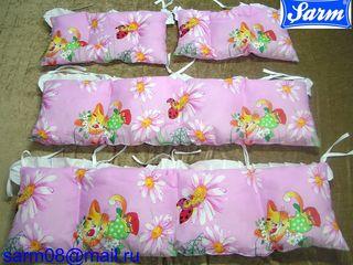 Бортики для детской кроватки, наполнитель fiberball холофайбер от производителя Sarm SA