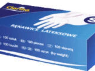 Перчатки одноразовые, латексные, размер: M, L,