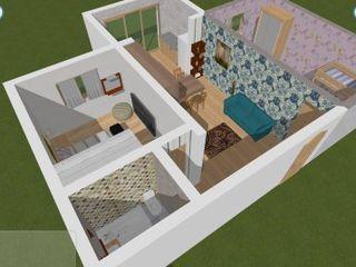 Кагул - центр - квартира 2 комнаты с залом -- 4 этаж.