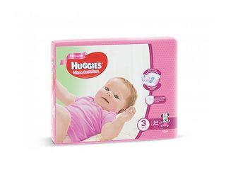 Huggies подгузники Ultra Comfort 3 для девочек, 5-9кг. 94шт