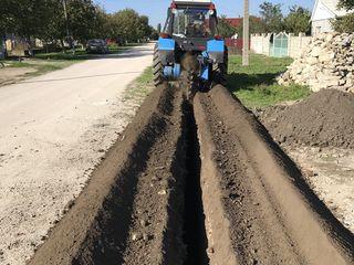 Prestam servicii cu excavator,transeekapateli,ciocan hidraulic.