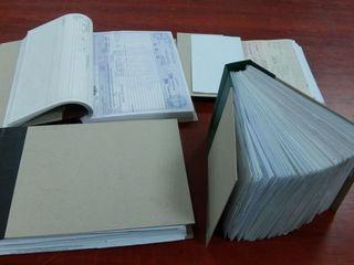 Переплет бухгалтерской документации строгой отчётности.