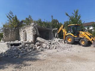 Prestam servicii de demolarea cladirilor cu ciocan hidraulic si evacuare cu autobasculante