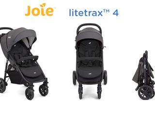 Carucior Nou Multifunctional - Joie Litetrax 4, nuantă gri-negru