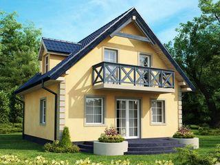 Casa cu 2 nivele 140 m2 rezistenta seizmica si eficienta termica!