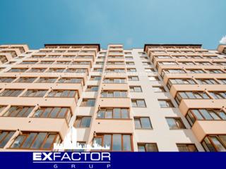 Exfactor Grup - Buiucani 2 camere 72 m2 et. 3 de la 570 € m2 pretul 41.050 € cu prima rata 12.300 €