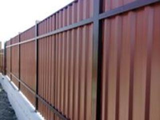 Garduri la comanda, temelie din beton, beton armat, Забор из профнастила, на заказ, Chisinau,Молдова