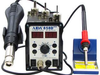 Ремонтная паяльная станция, Aida 858D++, два индикатора, термовоздушная, новая в упаковке