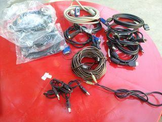 Hdmi. Dvi. VGA. Port munitor.usb.cabluri etc