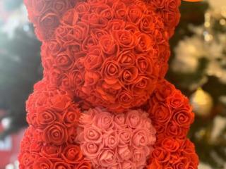 Urs din trandafiri. Cel mai mic preț în Moldova. Livrare toată țara