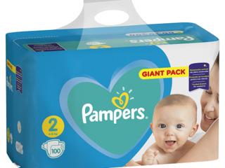 Pampers подгузники Giant Pack 2, 3-6кг. 100шт