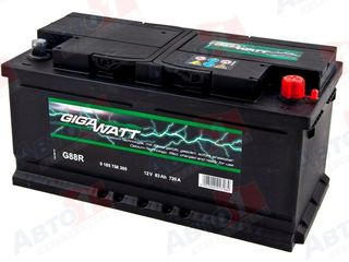 Скидки аккумуляторы gigavat! 60аh -1080лей , 74аh -1250 лей,100ah -1530 лей +доставка!установка