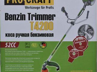 Trimmer pe benzina Procraft Т-4200/Livrare gratuita/Garantie 12 luni/CADOU fir de cosit + ulei Stihl