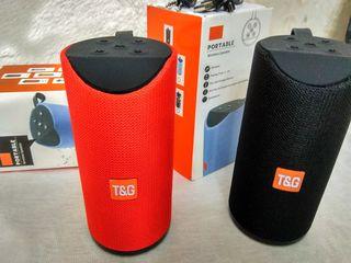 TG113- Boxa stereo FM / BT / MicroSD / USB, super sunet și bas. Până la 10 ore de muzică! Livrare.
