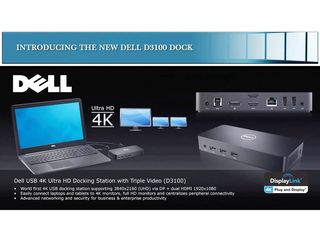 Dell D3100 USB 3.0 Ultra HD Triple Video Docking Station 452-BBOT на 1500лей дешевле