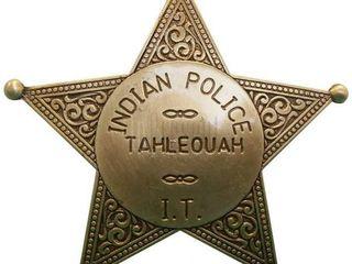 Звезда шерифа шестиконечная!материал: металл страна: испания