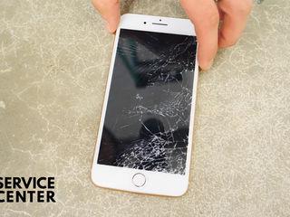 Iphone 8/8+   Sticla sparta – noi o inlocuim indata!