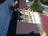 Ремонт крыша балкона из профнастила 9980+утепление крыши пенопласто!!!