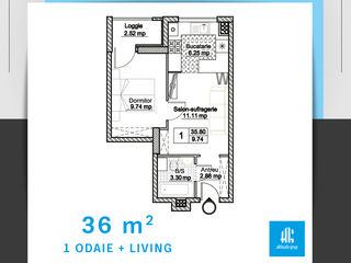 Apartament cu 1 camera + salon