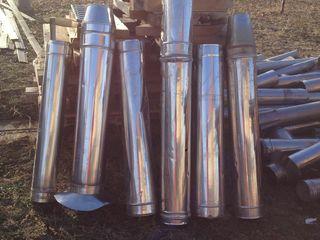Cos de fum din inox lunigime 5 metri 500lei metru  = Дымоход из Нержавеющая сталь