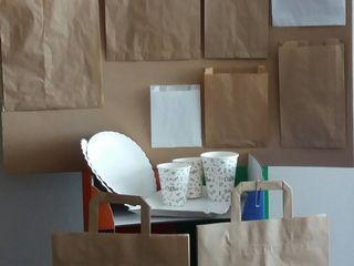 Pungi din hârtie, colțare, sacoșe din hârtie kraft natur și alb,hârtie kraft alb și natur !