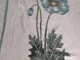 Покрывало, одеяло , плед ( размер 220*240 ), цвет белый со светлозеленым