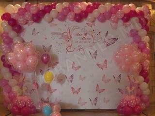 Fotopanou, foto panou, foto stand, decor cu baloane pentru cumatrie, botez, zi de nastere