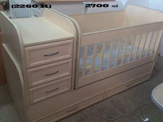 Кроватка - трансформер,2000-2700  лей