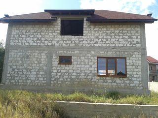 Ciorescu, casa in constructie pe teren de 7.5 ari, calitativ, amplasare linga traseu Balcani