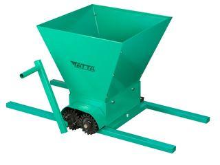 Zdrobitor de struguri manual Tatta TZ1802, Metalic, 300 Kg/h, cuva detasabila 20 L, Verde