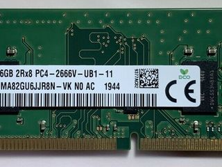 16Gb DDR4 Hynix 2666Mhz.