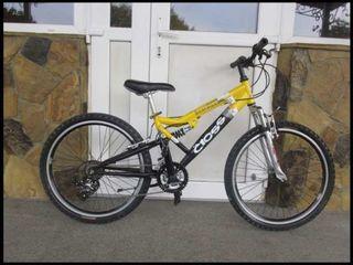 """Продам очень недорого отличный подростковый велосипед . Рама 16"""", двухподвес, колёса 24"""". Или обмен"""