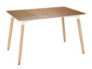 Masa DP Eames DT-01 Wood în CREDIT cu livrare gratuită preț redus !