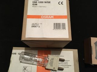 Lamps HMI 1200W. 2500W. 4000W.  4000W/ Metallogen.