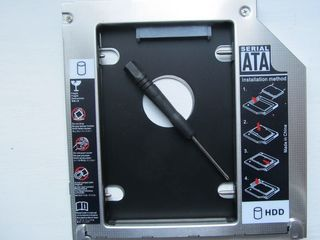 Адаптер OptiBay HDD Caddy Sata to Sata 12,7 мм - 9.5mm.