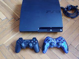 PS3 slim+ джостики+ 24 игры
