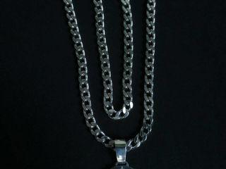 Серебряные цепь и браслет