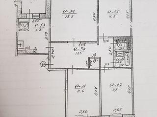 Продается 4-х комнатная квартира в г. Вулканешты ул. Ленина 107