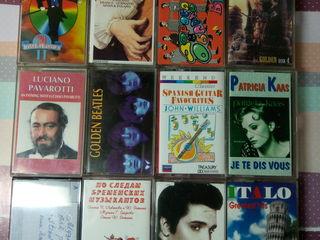 Музыкальные аудиокассеты разные