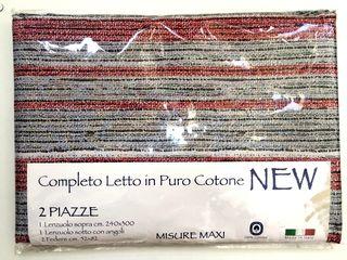 Set nou lenjerie pat cotton 100% produs în Italia