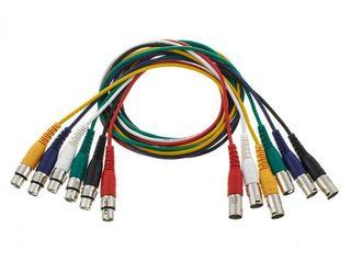 Set de 6 cabluri patch XLR the sssnake XLR Patchcable 1,5