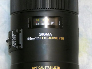 Sigma HSM Optical stabilize 105mm 2.8 DG для камер Canon .WalimexPro fish eye 8mm 3,5 Canon