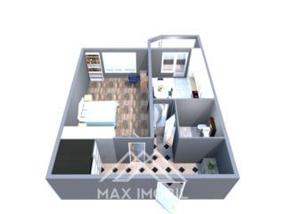Apartament spațios cu 1 cameră 39 m.p. bloc nou dat in exploatare.