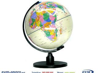 Глобус диаметром   10 см PVC  с политической картой мира белый Gl.10